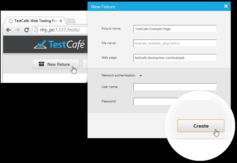 Control Panel : TestCafe | DevExpress
